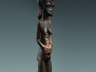 43 cm große Baule-Figur von der Elfenbeinküste