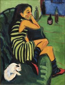 Ernst Ludwig Kirchner, Artistin Marcellla, 1910 (Brücke-Museum Berlin)
