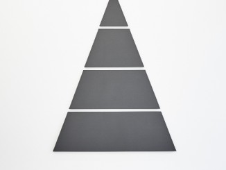 Alan Charlton, Divided Triangle Painting, 2017.