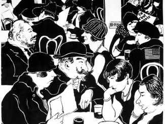 Bruno Beye, Café du Dome, Lithografie, 1926. Fotograf und Besitzer der Werke ist Dr. Gerd Gruber.